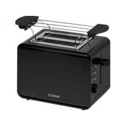 Bomann TA243CB Toaster Voor 2 Sneden Zwart