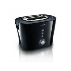 Philips HD2630/20 Broodrooster Zwart/Zilver met 2 Sleuven en 3 Functies