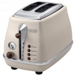 DeLonghi CTOV2003.BG icona Vintage Toaster 900 Watt Creme